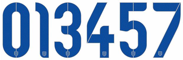 008f1a5290ca5 Dorsales de la selección inglesa diseñados por Neville Brody para el  Mundial de Brasil 2014