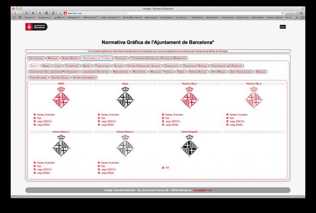 Ajuntament Barcelona descarga ilegal tipografía
