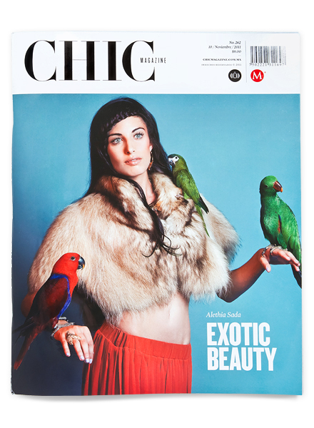 Diseño editorial de la revista Chic magazine
