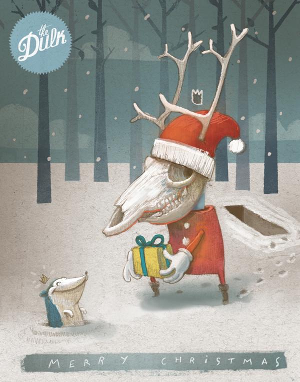 Ilustración para la felicitación de Navidad