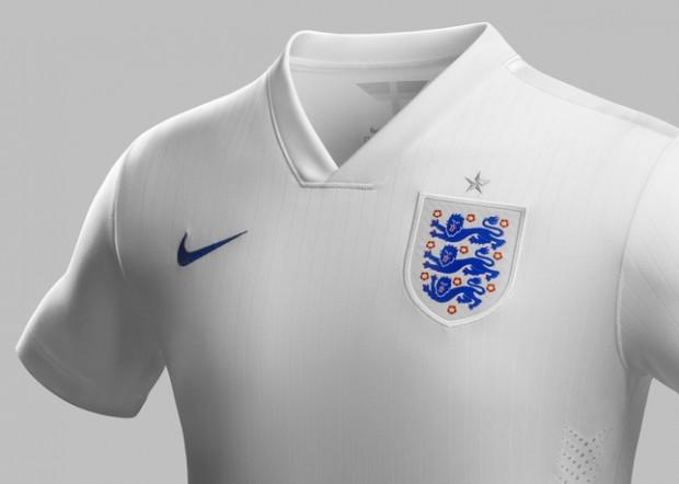 Camisetas selección inglesa mundial de Brasil 2014
