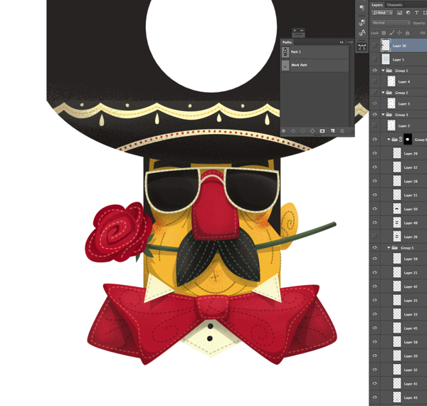 Proceso de diseño del packaging El Mariachi Collection