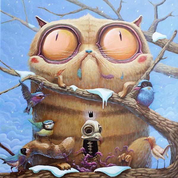 Ilustración titulada Fat Cat