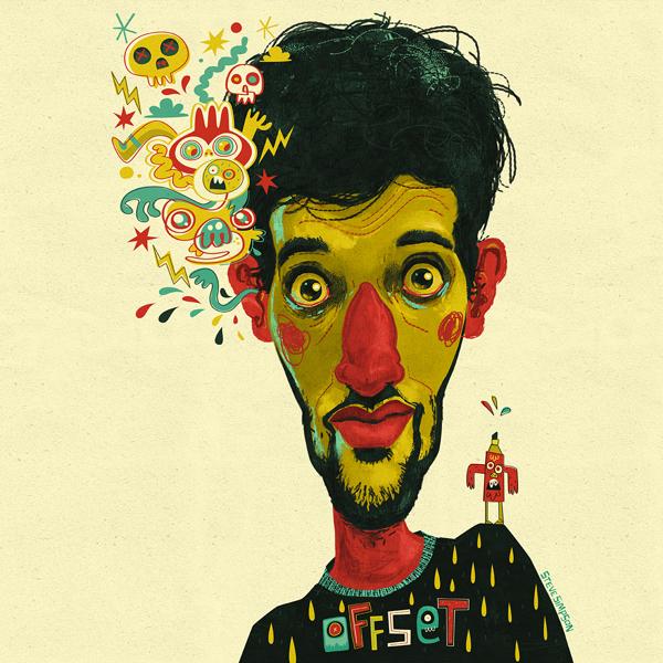 Ilustración Jon Burgerman, creada por Steve Simpson