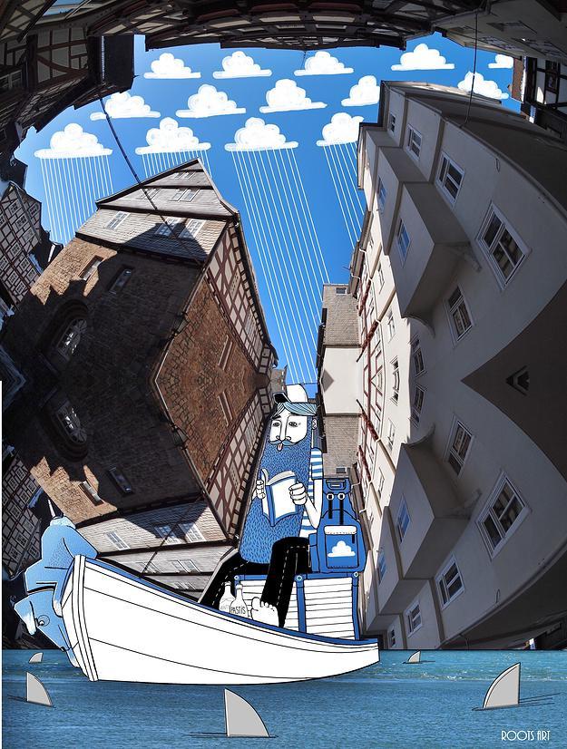 Ilustración perteneciente a la serie Sky Art