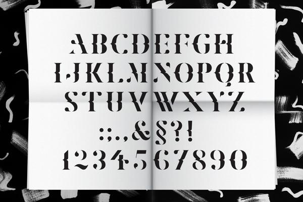 Aplicación de la tipografía Marle