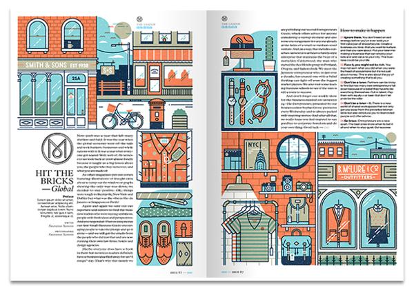 Ilustración para un artículo de la revista Monocle