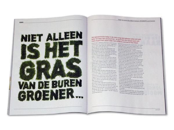 Ilustración tipográfica para la revista NRC Next One