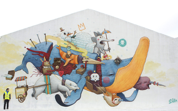 Pintura mural titulada North Pole for sale