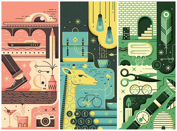 Conjunto de ilustraciones, Petit Bain