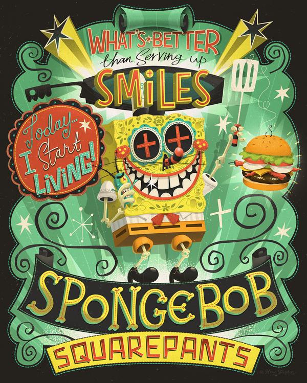 Ilustración Picante Spongebob