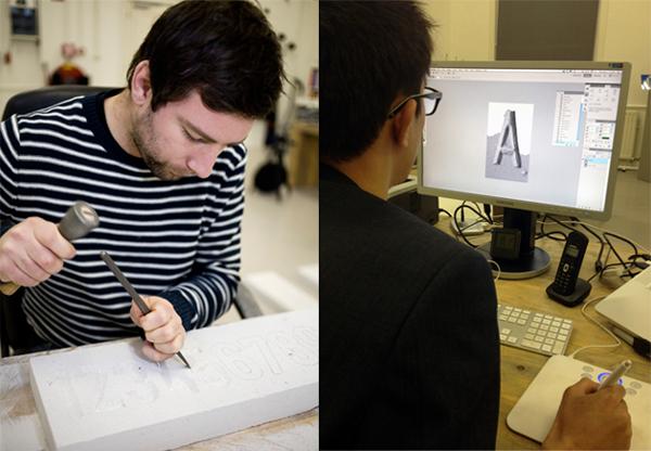 Proceso de creación de lailustración tipográfica de Playstation Network