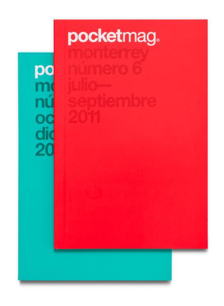Diseño deidentidad y aplicaciones de marca para Pocketmag