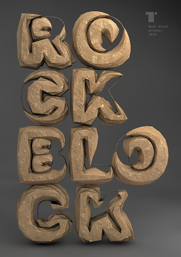 Tipografía experimental 'Rock Bloc'