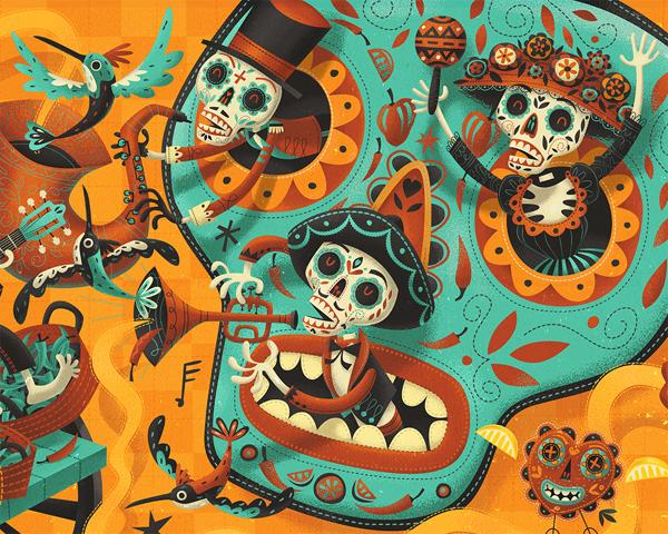 Ilustración para un restaurante mexicano, Tuzo