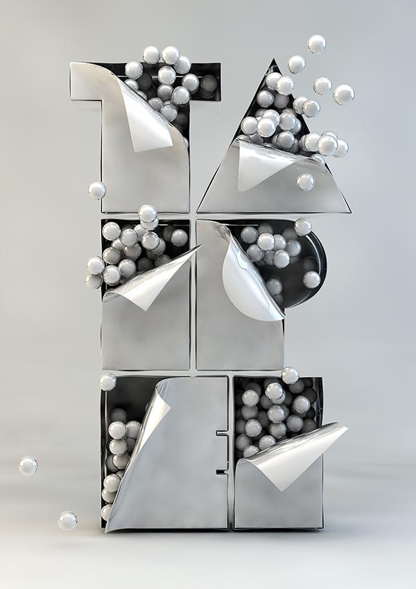 Tipografía experimental en 3D, 'Taipei'