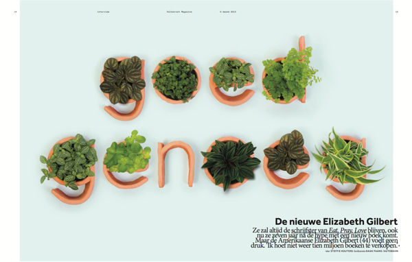Pieza publicitaria para Volkskrant Magazine, realizado por Autobahn