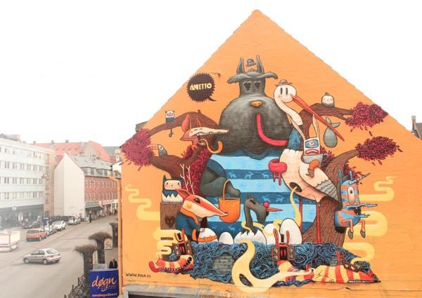Pintura mural en Copenhague