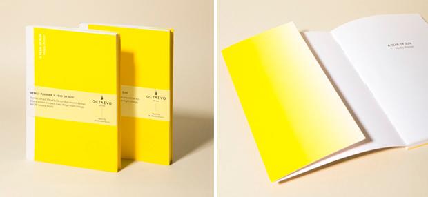 Diseño de libretas titulado A year of sun
