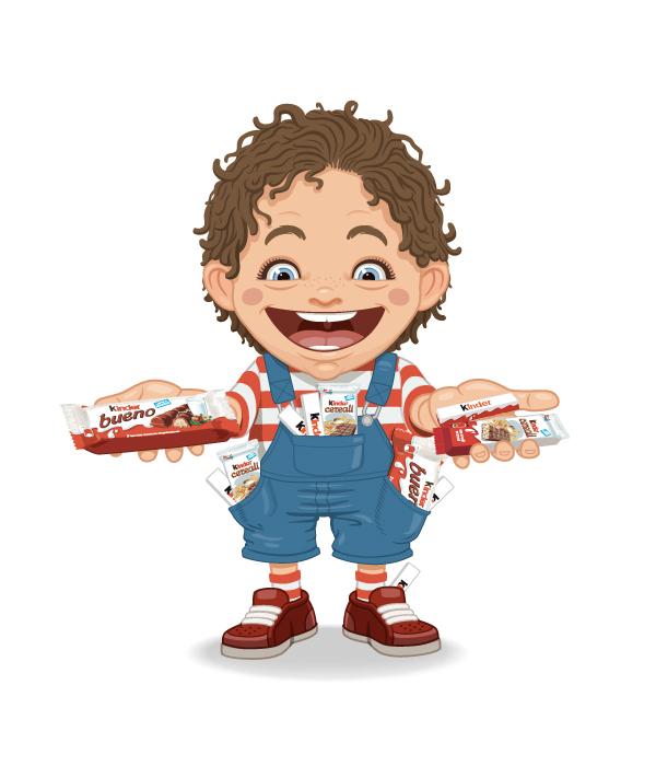 Ilustración pra pieza publicitaria de Ferrero
