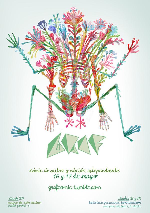 cartel GRAF 2014 Barcelona obra de Molg H.