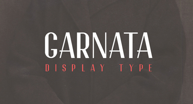 Garnata Display Type – tipografía disponible bajo licencia Creative Commons