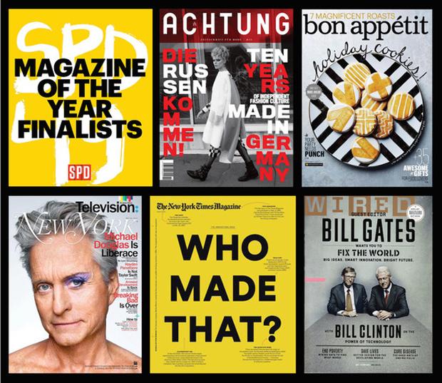 Ganadores de los premios SPD 49 al mejor diseño de revistas