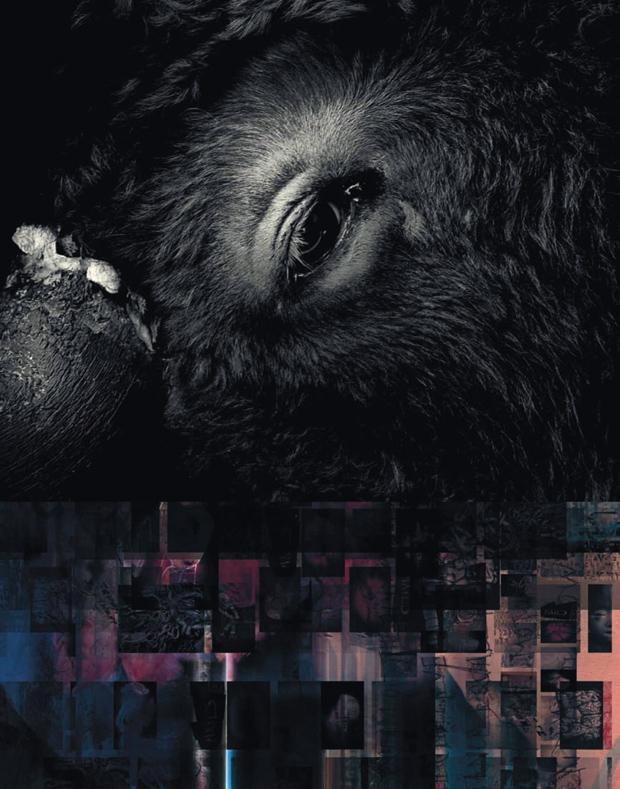 Vaughan Oliver – detalle de Minotaur – Pixies