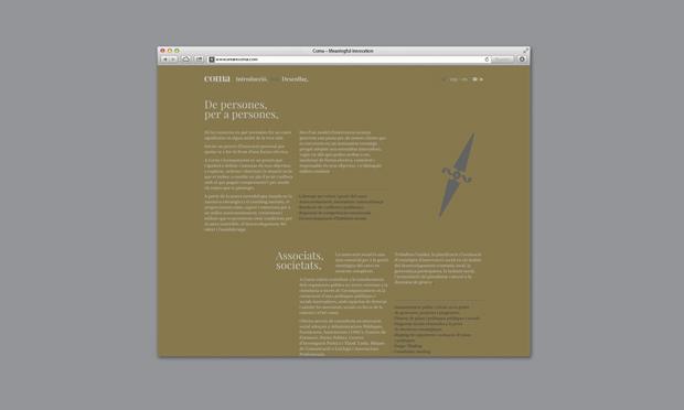Coma- branding y diseño web de Mucho