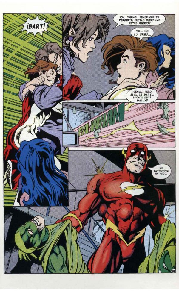 Viñetas del cómic Flash