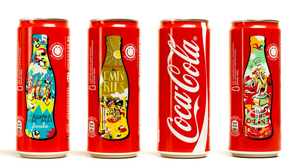Ilustración para el packaging de Coca-Cola