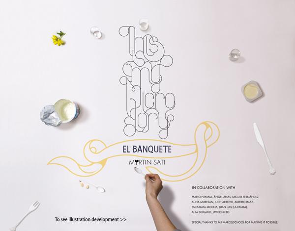 Ilustración titulada El banquete