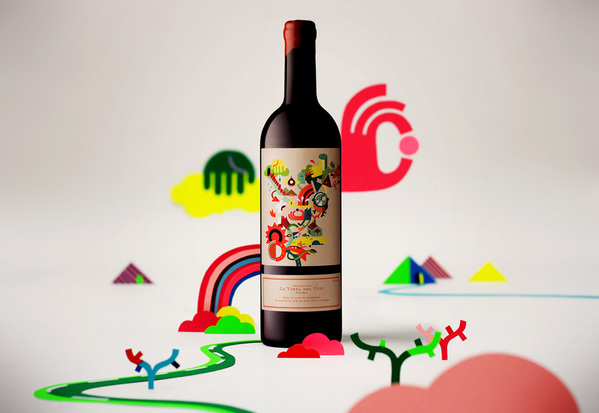 Ilustración para etiqueta de vino de Eight's vineyard