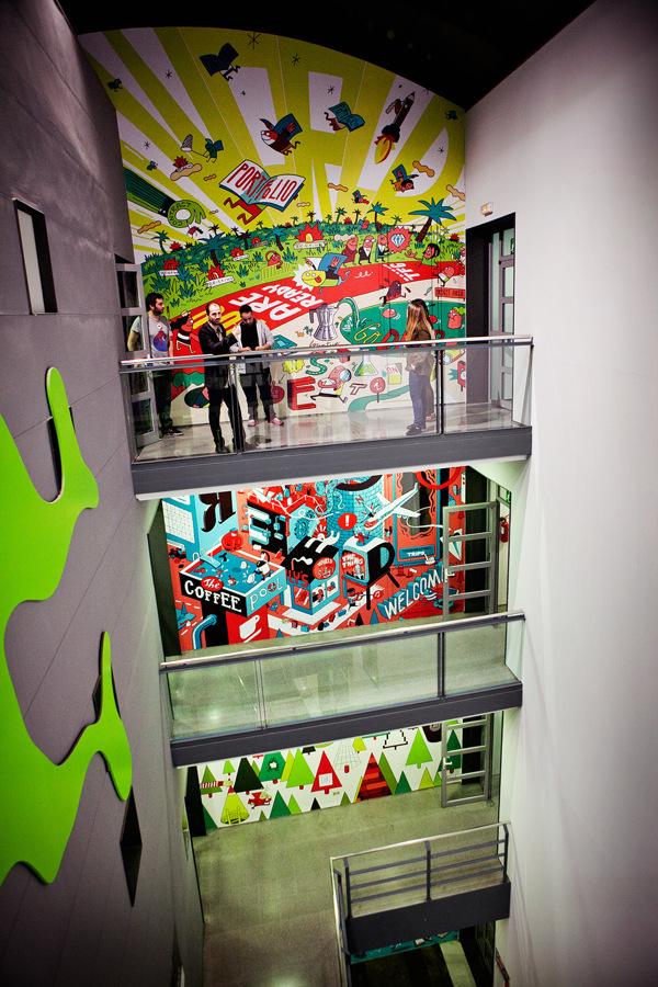 Mural para la escuela Elisava