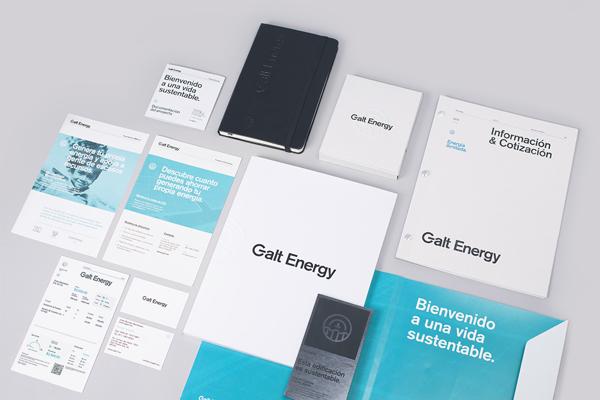 Diseño de identidad y aplicaciones para Galt Energy