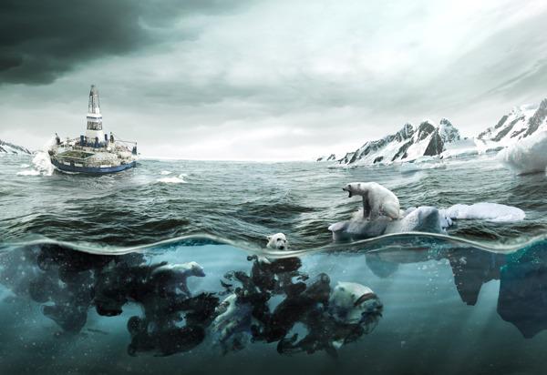 Pieza publicitaria para Greenpeace