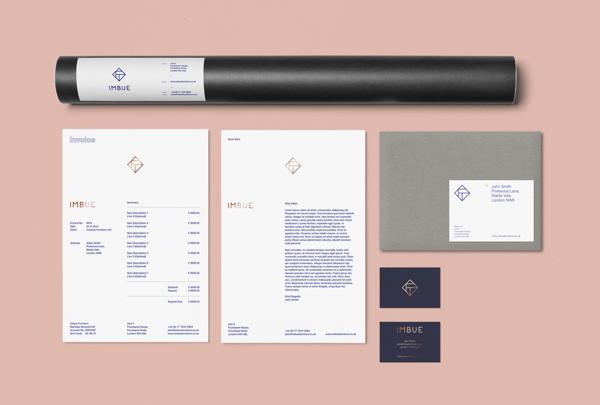 Diseño identidad para Imbue Furniture