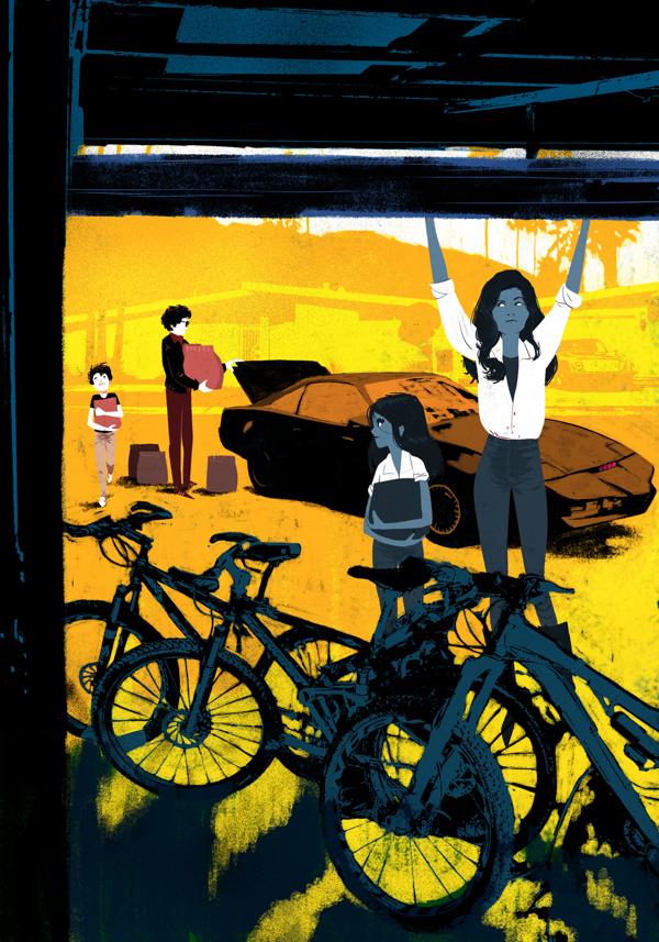 Ilustración de la serie de ilustraciones titulada Knight Rider