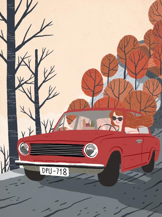 Ilustración para Mercedes Benz Magazine
