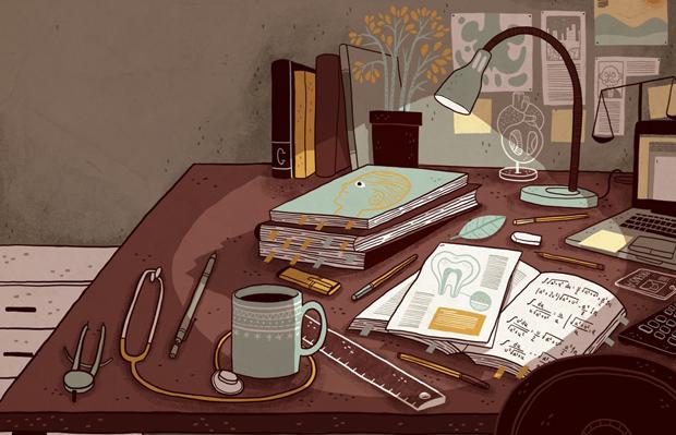 Ilustración para la revista Qué pasa Magazine