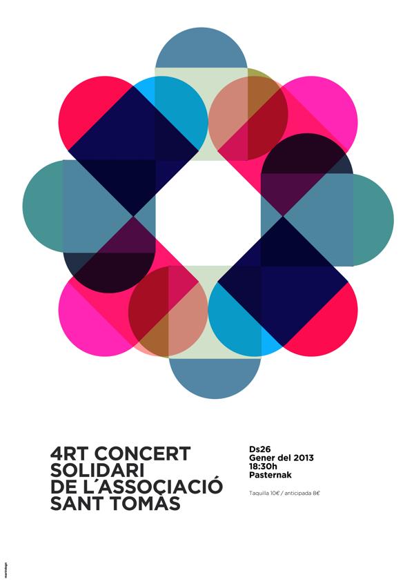 Cartel para concierto solidario