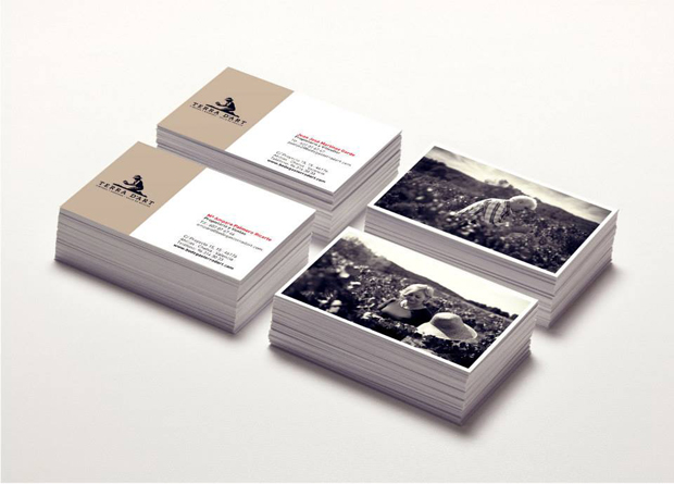 Diseño de las tarjetas de visita de Terra d'Art
