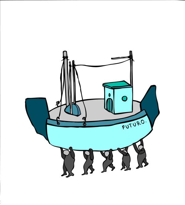 lustración de la serie Turquoise, creada por Alessandro Apai