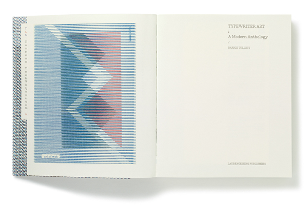 Diseño editorial de Typewriter Art