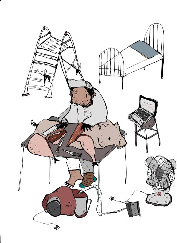 Ilustración perteneciente a la serie titulada Works