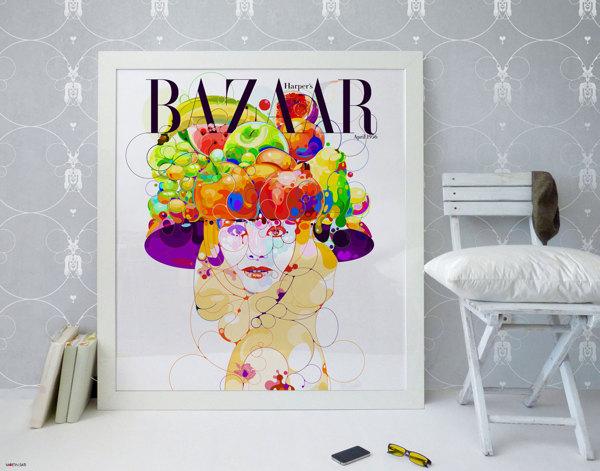 Ilustración para Bazaar magazine