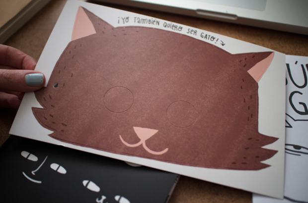 ilustración para su primer libro'El niño que quería ser gato'