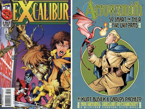 Portadas de Excalibur y Arrowsmith