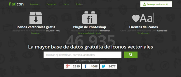 Iconos flat design de descarga libre con Flaticon