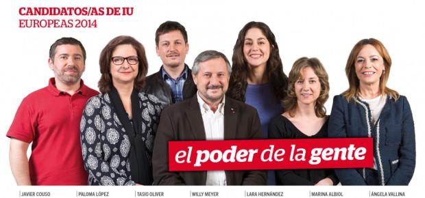 El poder de la gente, slogan de la campaña europea de Izquierda Unida